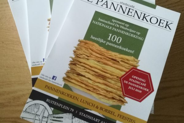 Flyer Nationale Pannenkoekdag | stadscafé De Pannenkoek