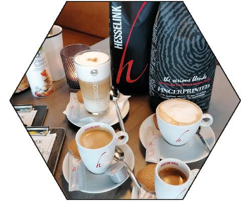 Hexagon koffietjes