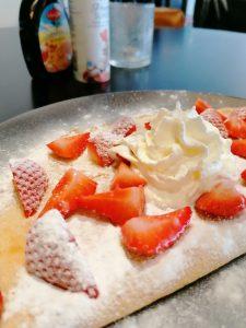 Pannenkoek verse Hollandse aardbeien
